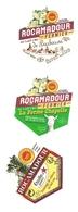 Lot De 3 étiquettes Fromage De Chèvre Rocamadour La Ferme Chapelle Barbarou Et étoile Du Quercy - Fromage