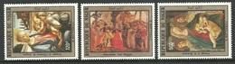NIGER 1983 ART PAINTINGS BOTTICELLI VIRGIN & CHILD CHRISTMAS XMAS SET MNH - Niger (1960-...)