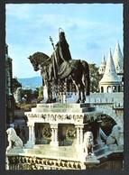 Hungría. Budapest *Fishers' Bastion, St. Stephen's Statue* Foto: Köteles Lajos. Nueva. - Hungría