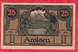 Allemagne 1 Notgeld 25 Pfenning Arolsen Lot N °1816 Dans L 'état - [ 3] 1918-1933 : Repubblica  Di Weimar