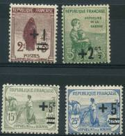 France (1922) N 162 à 165 ** (Luxe) - Neufs