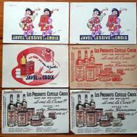 6 Buvards Anciens LACROIX -JAVEL & LESSIVE -produits COTELLE-CROIX Issy Les Moulineaux -Illust E.HAMON à MOrlaix Et OPIM - Wash & Clean