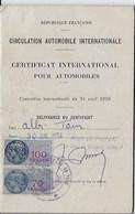 CERTIFICAT INTERNATIONAL POUR AUTOMOBILES - Other