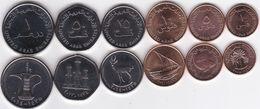 UAE United Arab Emirates 1 5 10 25 50 Fils 1 Dirham 2005 - 2015 UNC Set 6 Coins Ukr-OP - United Arab Emirates
