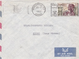 CONGO :  135 Sur Lettre De Brazaville De 1962 - Congo - Brazzaville