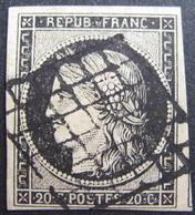 R1749/132 - CERES N°3 ☛☛☛ Timbre Signé - GRILLE NOIRE - Cote : 65,00 € - 1849-1850 Ceres