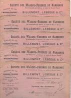 11 WAGONS FOUDRES DE NARBONNE BILLEMONT LEBEGUE 1906 Envoyé à M. LIGNERES VINS  à 11 AZILLE - Transporte