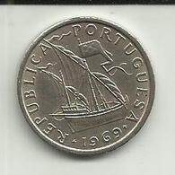5 Escudos 1969 Portugal Republica - Portugal