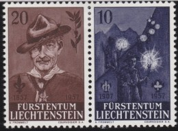 Liechtenstein    .    Yvert     .       322+323     .      *    .     Ungebraucht Mit Gummi  Und Falz - Liechtenstein