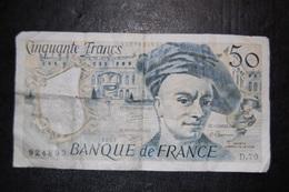 BILLET DE BANQUE FRANCE 50 FRANCS - 50 F 1976-1992 ''Quentin De La Tour''