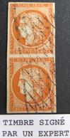 R1749/135 - CERES (PAIRE) N°5 ☛☛☛ Timbre Signé ROUMET + BRUN (EXPERTS) - GRILLE SANS FIN - Cote : 1750,00 € - 1849-1850 Cérès