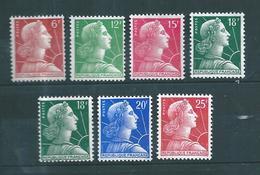 France Timbres De 1955/59 Marianne De Muller  N°1009 A 1011C + 1011Aa  Neuf ** - France
