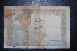 FRANCE 10 FRANCS ANCIENS - 1871-1952 Anciens Francs Circulés Au XXème