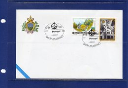 ##(DAN185/1)- San Marino Participation In  Portugal 98  Philatelic Exhibition -  Cover With Special Postmark - Lettere