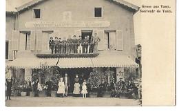 57 RESTAURANT AU BON BOUILLON DE VAUX GRUSS AUS VAUX 1912 CPA 2 SCANS - Autres Communes