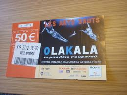 Ola Kala Les Arts Sauts Ballet Used Greece Greek Ticket - Concert Tickets