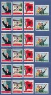 VR China 1971 Arbeiterpartei Albanien, Mi.-Nr. 1098-1101 Lot 6 Sätze **  N25-N28 - Chine
