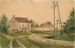 Ref X340- Veritable Dessin - Saint Yrieix - St Yrieix - Ligne De Chemin De Fer - - Saint Yrieix La Perche