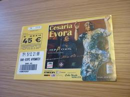 Cesaria Evora Music Concert Used Greece Greek Ticket (Haig Whiskey) - Concert Tickets