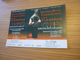 Viva Flamengo Gerardo Nunez Carmen Cortes Dancing Used Greece Greek Ticket - Concert Tickets