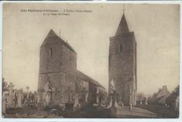 Les Moitiers-d'Allonne-L'Église Notre-Dame Et La Tour Saint-Pierre (Moyennement Abîmée,voir Scan) - Francia