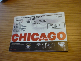 Chicago The Musical Used Greece Greek Ticket - Concert Tickets