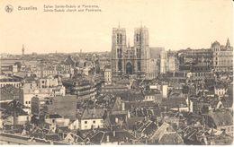 Bruxelles - CPA - Brussel - Eglise Sainte-Gudule Et Panorama - Panoramische Zichten, Meerdere Zichten