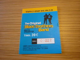 The Original Blues Brothers Band Music Concert Used Greece Greek Ticket - Concert Tickets