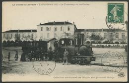 La Drôme Illustrée - Taulignan - Le Tramway Et Les Ecoles - N° 18 - Phot. Edit. Lang - Voir 2 Scans - Autres Communes