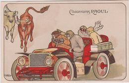 Illustrateur : R.  CAPUTI, Automobile , Chaussures Raoul - Non Classificati