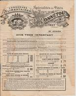 Eymet  -1910 -   Catalogue Conserves  Alimentaires De  Foies Gras  P BONNETOU - Alimentos