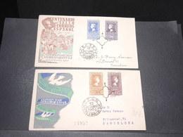 ESPAGNE - 2 Enveloppes FDC En 1950 - L 18099 - FDC