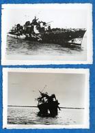 "DAKAR  - Bateaux - Sabordage 1939/1940 -2  Photos Du  - "" Foudroyant  ""  A Dakar   Voir Scan - Boats"