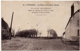 Vitteaux : Le Parc Et L'avenue Carnot, Arbre Claude Baudenet (Collection Aubertin, N°21 - Louys Et Bauer, Dijon, LB) - Autres Communes