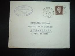 LETTRE TP M. DE DULAC 2F OBL.29-6 45 STRASBOURG-NEUHOF BAS-RHIN (67) - 1944-45 Marianne Of Dulac