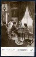 """CPA S/w AK Frankreich,France Salon De 1913""""Mille S.Hurel-un Coup Difficile,ein Schwerer Zug,Brettspiel """" 1 AK Benutzt - Museen"""