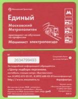 "Transport Map Of Moscow Metro ""Job Training  Electric Train Driver."" 2017   350 - Métro"