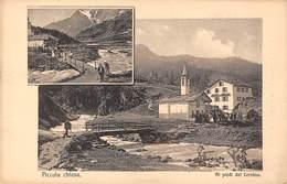 """0026 """"(AO) AI PIEDI DEL CERVINO - PICCOLA CHIESA"""" ANIMATA, FOTO O. RATTI.  CART. ORIG. NON  SPED. EDIZ 1909 - Aosta"""