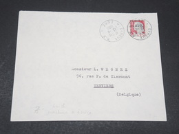 FRANCE - Enveloppe De Evreux Pour La Belgique En 1962 , Affranchissement Timbre Surchargé OAS - L 18106 - Postmark Collection (Covers)