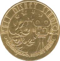 77 MARNE LA VALLÉE DISNEYLAND PARIS N°11 WALT DISNEY STUDIOS MÉDAILLE MONNAIE DE PARIS 2009 JETON MEDALS TOKEN COINS - Monnaie De Paris