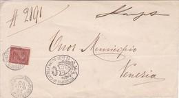 MUNICIPIO DI CASTELFRANCO. CIRCULEE VENEZIA CIRCA 1910's. ITALIA.-BLEUP - Usati