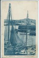 Cherbourg-L'Avant-Port Et La Montagne Du Roule (Très Légère Coupure Bord Gauche Au Centre,voir Scan) (SÉPIA) - Cherbourg