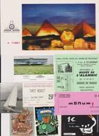 Lot De 9 Tickets Hétéroclites Visites, Discothèque,  Egypte, Cap D'Agde, Nantes, Musée, Bourges - Tickets - Vouchers