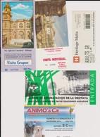 Lot De 5 Tickets Visites Sites Malte, Canaries, Animaux, Orotava, Malaga - Tickets - Vouchers