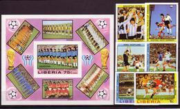 Soccer World Cup 1978 - LIBERIA - S/S+Set Imp. MNH** - 1978 – Argentine