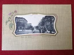 AK Stettin Deutsche Straße Passanten Häuser Ca. 1914 - Pommern