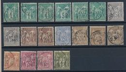 "CA-84: FRANCE: Lot  Avec ""SAGE N/B""  Avec N° Entre 61 Et 71, 1er Et 2ème Choix( Dentelure) - 1876-1878 Sage (Type I)"