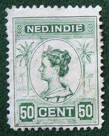 READ 50 Ct Queen Wilhelmina NVPH 129 1913-1931 Gestempeld / Used NEDERLAND INDIE / DUTCH INDIES - Netherlands Indies