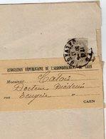 TB 2329 - LAC - Association Républicaine - Tb Type Blanc Sur Bande De Journal MP CAEN - Marcophilie (Lettres)