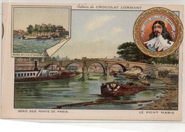 "CHROMOS  ""Edition Du CHOCOLAT LOMBART  ""Le Pont MARIE"" - Lombart"